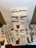 RARE 1962 Float With Coke 12 Piece Advertising/Poster Set Coca-Cola Ultra Rare