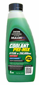 Nulon Long Life Green Top-Up Coolant 1L LLTU1 fits Nissan NX/NXR 2.0 GTI (B13)