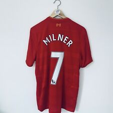 JAMES MILNER Liverpool 2016-17 Home Football Shirt Used-Excellent Medium