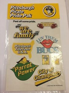 VINTAGE 1979 PITTSBURGH PIRATE PRIDE PAK BASEBALL STICKER LOT OF 18 PAGES