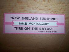 "1 James Montgomery New England Sunshine Jukebox Title Strips Cd 7"" 45Rpm Records"