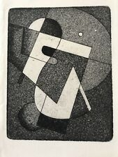 small Abstract etching-- Klee/Kandinsky-esque