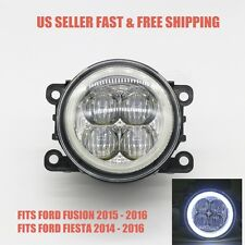 6000K White LED Fog Light W/Angle Eyes Replacement FOR 14-17 FORD FUSION FIESTA