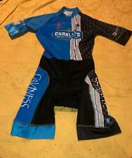 HINCAPIE Cycling Full Body Suit One Piece Padded Mens Size Mediun Blue Black