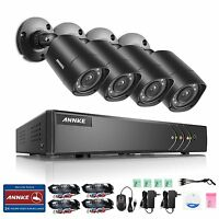 ANNKE 8-Channel HD-TVI 1080P Lite Video Security System DVR and 4 1.0MP Cameras