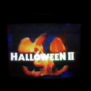 Sold As Recordable Blank VHS Videotape Halloween 2 WGN Chicago 1988 COMMERCIALS