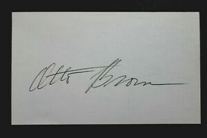 Prairie View Cowboys Giants Otto Brown (d.2006) Signed Autograph 3x5 Index Card
