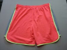 127 WOMENS NWOT UNDER ARMOUR LOOSE FIT BRIGHT PINK TRACK SHORTS SZE LRG $70 RRP.