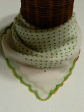 """Talbots Silk and Cotton 21"""" Square Green Polka Dot Scarf NWT Soft and Sheer"""