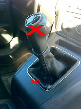 FITS VAUXHALL OPEL  ZAFIRA II MK2 B 05-2011GEAR GAITOR BLACK STITCHING  LEATHER