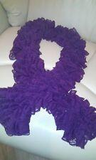 Stylish and elegant ladies lace ruffle scarf