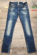 Replay Straight Leg L32 Distressed Jeans for Women