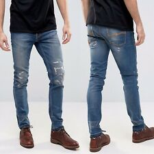 NUDIE Jeans Co. Lean Dean Skinny Slim Denim Sz 32 x 32 Niclas Replica Organic