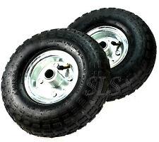 2x Luftreifen Rad 260mm 4.10/ 3.50-4  Sackkarrenrad Sackkarrenräder Räder Wagen