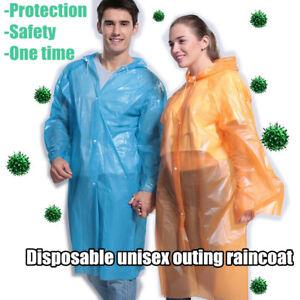 Disposable Dustproof Outdoor Travel Adult Raincoat Transparent Protective Jacket