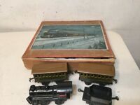 Rare Antique Bing Clockwork Train Boxed Set New York Central NYC & H R Hartford?