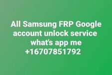 FRP / Remove Samsung and google account for all samsung (Remote Service)