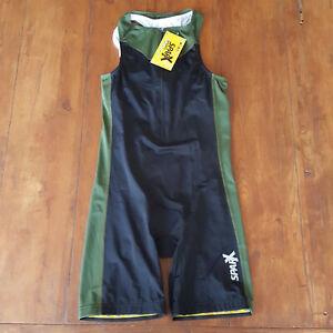Sparx Women's Large Triathlon Suit Green Trisuit Skinsuit Cycling Swim L