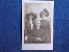 Atlantic City/Beautiful Edwardian Woman w Mom & Dad/Big Fancy Hats/Albert RPPC