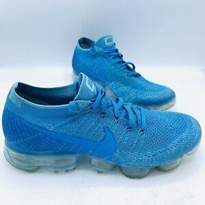 Nike VaporMax Flyknit Blue Orbit Shoes Men's US Sz 9, RARE 849558-402, Excellent