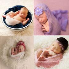 Newborn Baby Girls Boys Wrap Stretch Infant Photography Photo Prop Blanket Rug