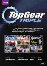 Top Gear Triple [DVD] NEU The Great Adventures Polar & US Special + Challenges 1