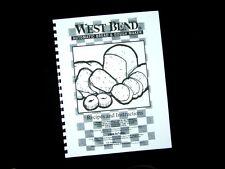 West Bend Bread Maker Machine Instruction Manual Recipes 41028 35 38 45 47 55 65