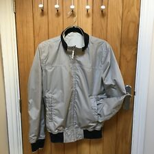 Size Medium Cream Navy Reversable Bomber Jacket By Woolrich John Rich And Bros