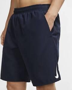 Nike Men's Challenger 9'' Running Shorts - Obsidian - Small - Reflective Swoosh