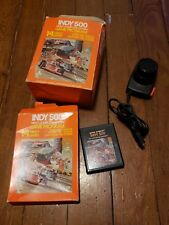 Atari 2600 Indy 500 Game And Controller / Paddle Set Mint With Boxes
