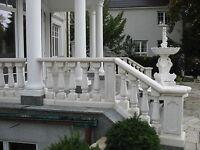Balustraden Höhe 92cm. Balustrade Baluster Marmor Geländer