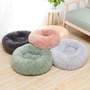 Round Plush Hairy Fur Pet Mattress Soft Sleep Bed Mat Puppy Dog Cat Accessories