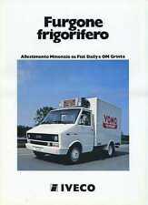 BROCHURE DEPLIANT IVECO FURGONE FRIGORIFERO MINONZIO FIAT DAILY OM GRINTA