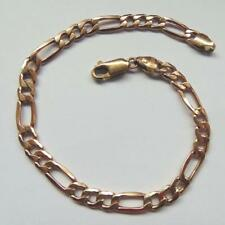 9 CARAT GOLD 7 1/2 INCH CHAIN LINK BRACELET  WEIGHT 3 GRAMS
