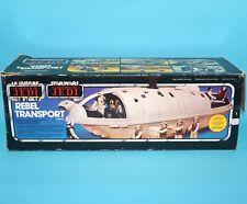 STAR WARS ROTJ REBEL TRANSPORT 100% COMPLETE BOXED EURO BOX 1983 KENNER CLIPPER