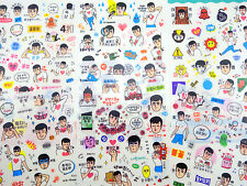 SIX pages Korean guy stickers! Cute K-pop boyfriend, funny boy emoji emoticons