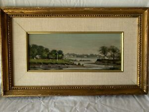 Connecticut Coast Original Scene Oil 1990's