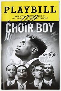 CHOIR BOY Broadway Cast Nicholas L. Ashe, Austin Pendleton Signed Playbill