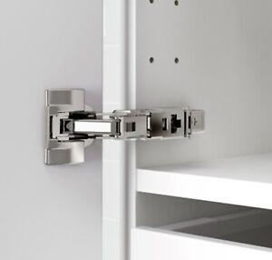 IKEA 2 x UTRUSTA 153 degree cabinet kitchen door steel hinge wide opening angle