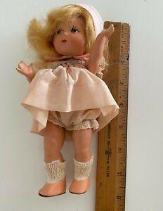 "Vintage 7"" Vogue Composition Doll Blonde In Original Box"