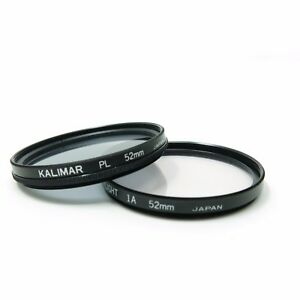 Kalimar 52mm Drop-in Circular Polarizing Filter Set / Skylight IA / PL
