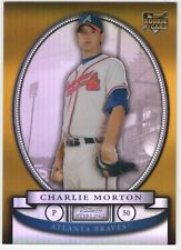 CHARLIE MORTON 2008 Bowman Sterling GOLD REFRACTOR ROOKIE #35/50 - Astros