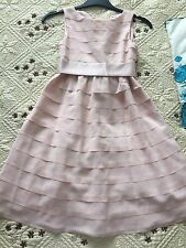 Blush Pink Bhs Girl Occasion Dress Bridesmaid 6-7 years