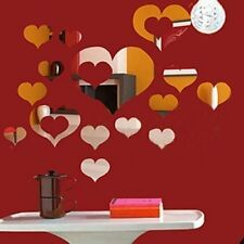 WALPLUS Specchi decorativi da parete, a forma di cuori romantici, colore (S4T)