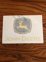 Nice John Deere Logo Decal 5 inch x 8 inch- 16