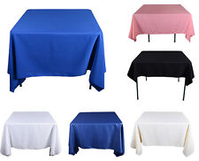 """TulleShop 85"""" x 85 Inch Polyester Square Tablecloth Table Cover Wedding Party"""