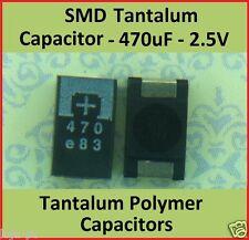 SMD 470uf 2.5 Volts Tantalum Capacitors Polymer  - Part # 2R5TPE470M9  PANASONIC
