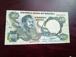 NIGERIA - 20 NAIRA 2002 - BANKNOTES