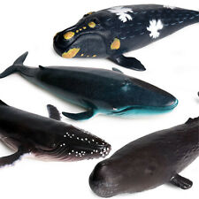 Humpback Right whale Sperm Whale Grampus Figure Animal Collector Toy Soft Pvc