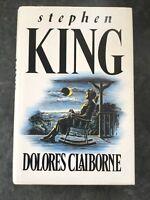 Hardback Stephen King Dolores Claiborne (1993 UK First Edition)
